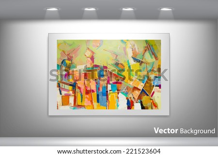 vector abstract painting