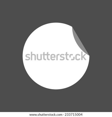 Vector abstract paper ring. empty place for text.  Blank sticker. flat circle.   #233715004