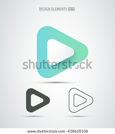 vector abstract play icon
