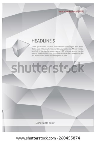 Vector abstract polygonal backgrounds. Polygonal texture.