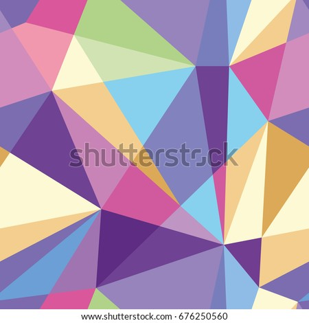 Stock Photo Vector abstract polygonal colorful pattern. Seamless pattern can be used for wallpaper, pattern fills, web page background,surface textures.