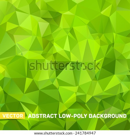 vector abstract polygonal green