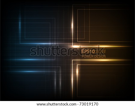 Vector abstract power design against a dark background