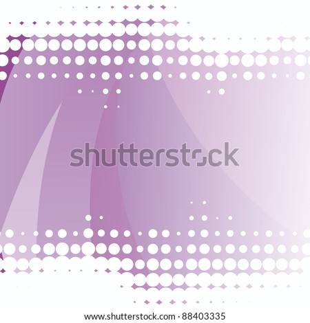 Vector Abstract purple background with dots elements