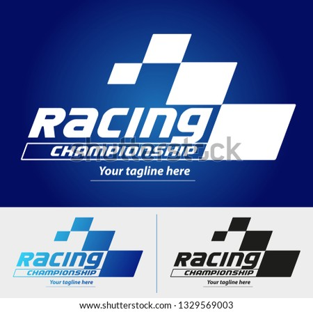 Vector abstract, racing championship symbol.