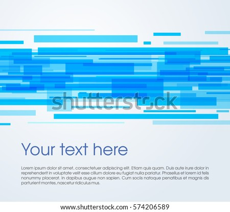 Vector abstract rectangle background in blue color