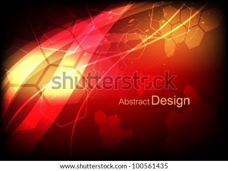 vector abstract red science technology background