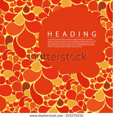 Vector abstract retro background with place for your text