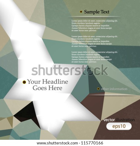 Vector abstract retro geometric background with shadows and space for text - eps10