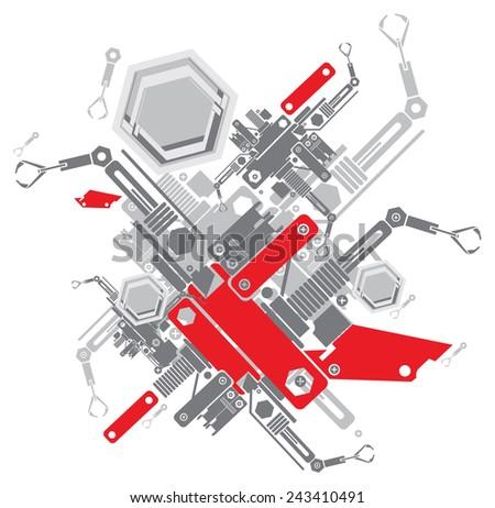 vector abstract robot machine