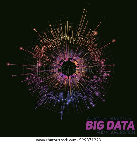 vector abstract round big data