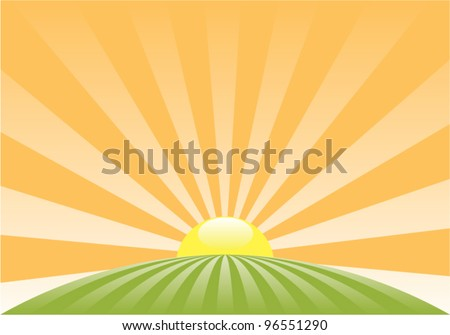 vector abstract rural landscape