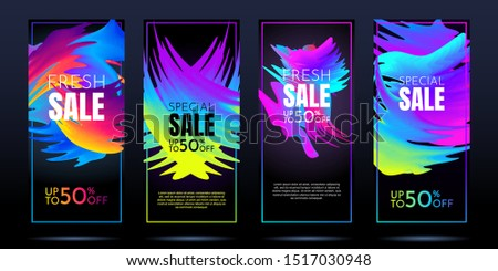 vector abstract sale banners