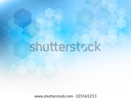 Vector Abstract science Background. Hexagon geometric design. EPS 10