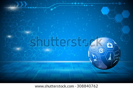 vector abstract science globe