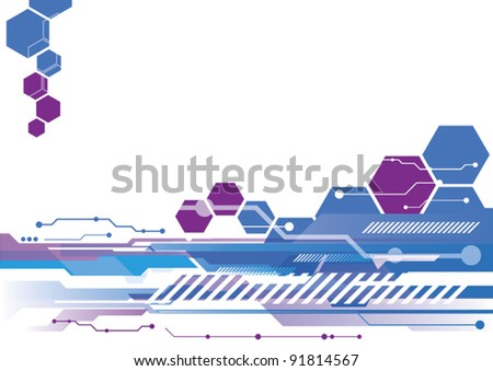 vector abstract science technology background design