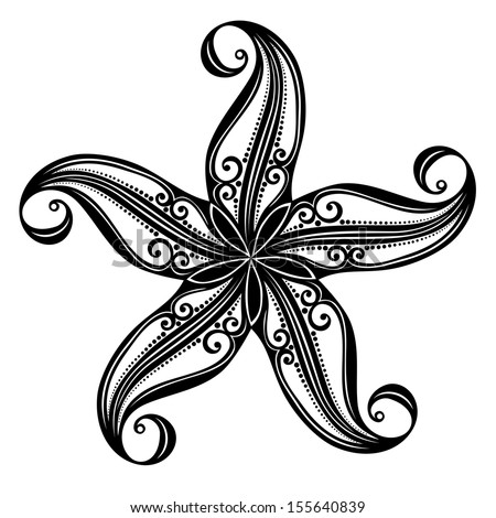 vector abstract sea starfish