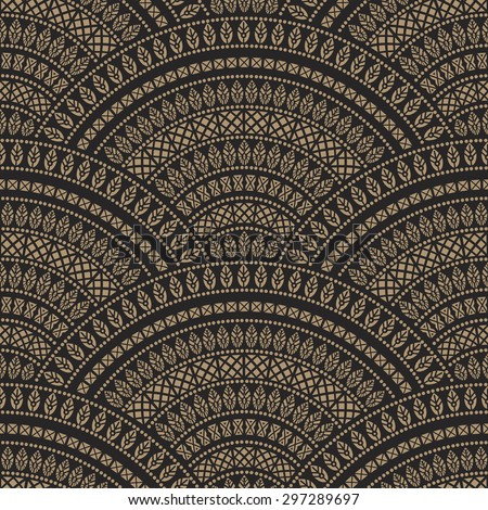 stock-vector-vector-abstract-seamless-geometrical-background-from-dark-beige-and-black-fan-shaped-ornate