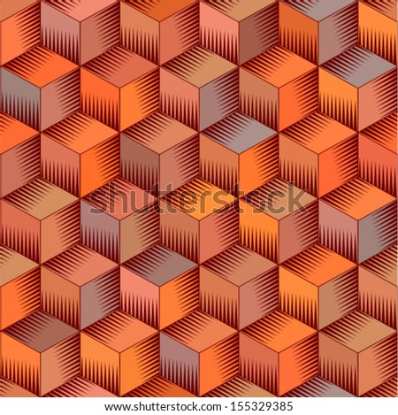 Vector abstract seamless pattern (background of geometric shapes)