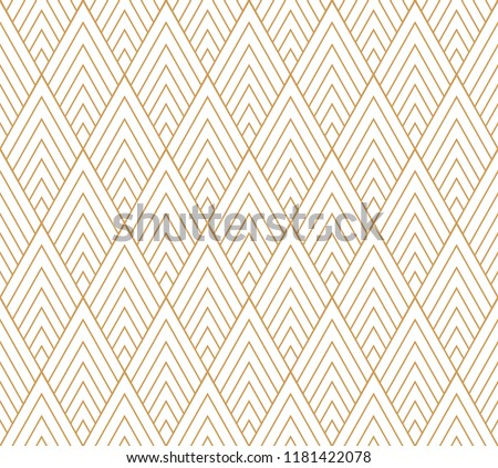 Vector abstract seamless pattern. Geometric classical background. Retro stylish texture.
