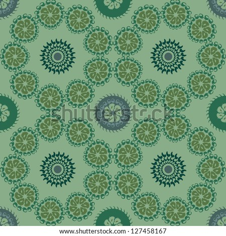 Vector abstract seamless pattern. Geometrical seamless background in eco colors.