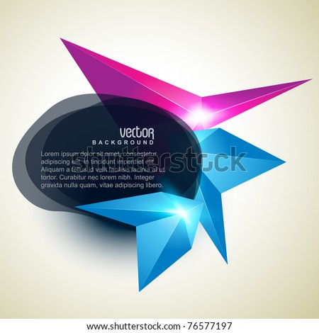 vector abstract shape background design