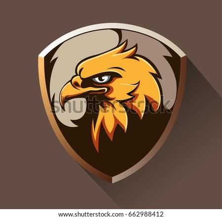 vector abstract  shape eagle