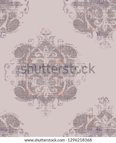 vector  abstract shibori floral