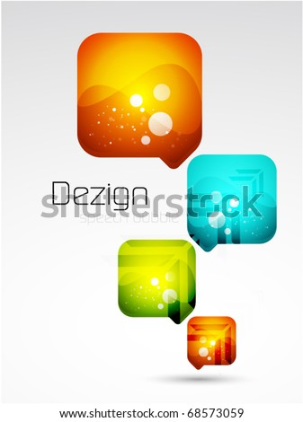 Vector abstract speech bubble background