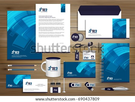 Free stationery design template download free vector art stock vector abstract stationery editable corporate identity template design gift items business color promotional souvenirs elements accmission Images