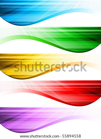 Vector abstract style banners; clip-art