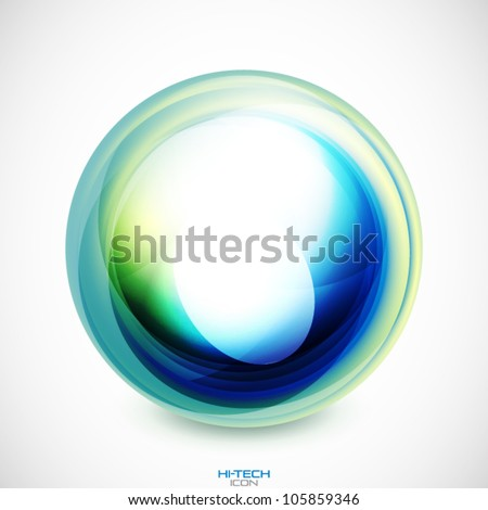 Vector abstract swirl round shape