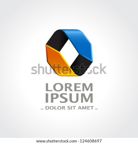 Vector abstract symbol - sign, icon, pictogram