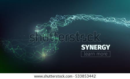 vector abstract synergy concept