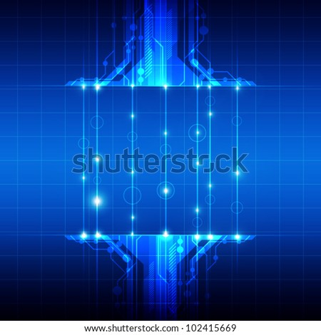 vector abstract technology with fiber optic background