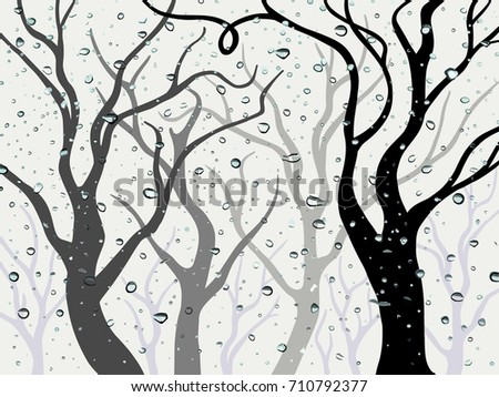 vector abstract trees