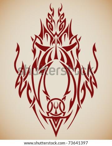 vector abstract tribal design