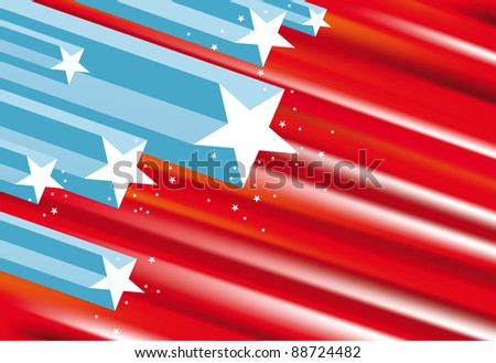 Vector abstract USA flag