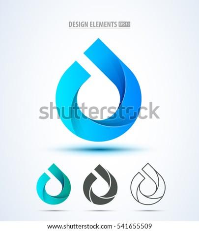 vector abstract water drop logo