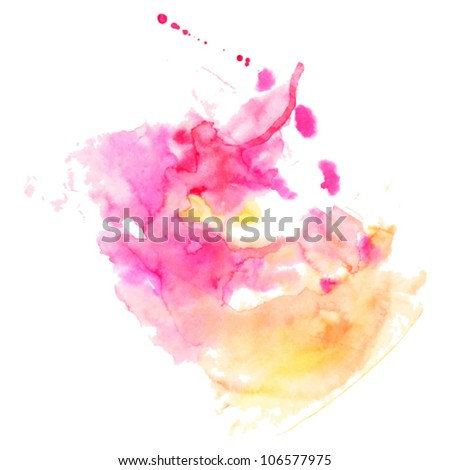 vector abstract watercolor hand painted background