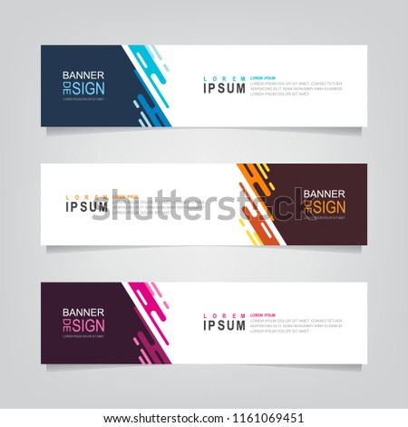 Vector abstract web banner design template. Collection of web banner template. Abstract geometric web design banner template isolated on grey background. Header - landing page Web Design Elements #1161069451