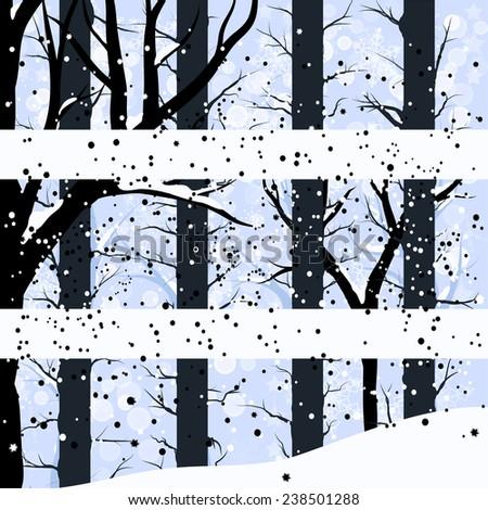 vector abstract winter