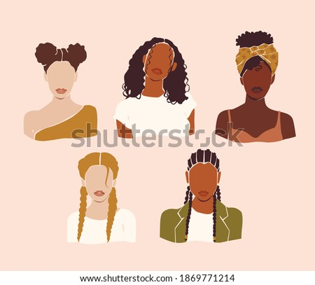 vector abstract woman portraits
