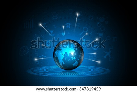 vector abstract worldwide global technology innovation concept