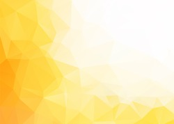 Vector abstract yellow white triangles background