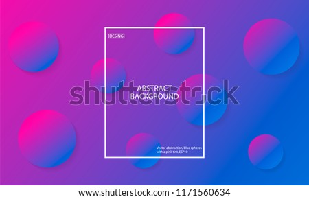 Vector abstraction, blue spheres with a pink tint. ESP10. Minimal geometric background. Gradient shapes composition. - Shutterstock ID 1171560634
