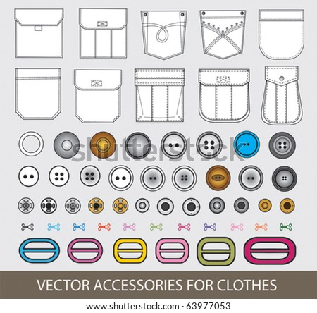vector accessories for clothes