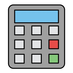 Vector Accounting Filled Outline Icon Design