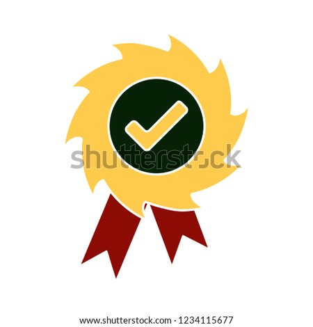 vector achievement medal badge isolated vector - competition winning sign symbol . champion reward illustration sign