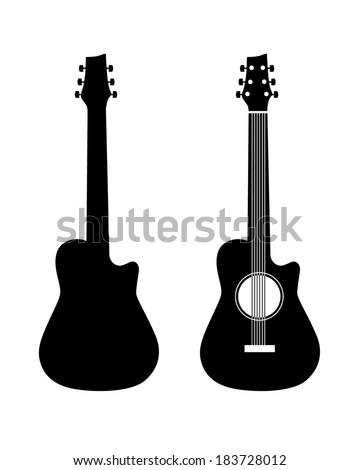 vector acoustic guitar graphic